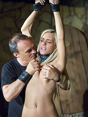 Slave virging used like a toy